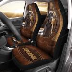 Labrador Retriever Leather Pattern Car Seat Cover