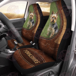 Yorkshire Terrier Leather Pattern Car Seat Cover