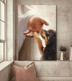 Rottweiler - Take my hand Canvas