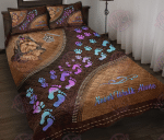 Yorkshire terrier never walk alone Quilt Bed Set