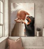 Rottweiler - Take my hand 2 Canvas