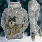 Wolf Cool 3D Printed Sublimation Leggings Hoodie Set