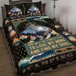 In The Forest Camping Quilt Bed Set