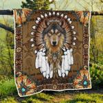 Native American Wolf Spirit Quilt Blanket