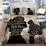 Customize Name Love My Cat Bedding Set