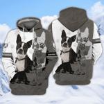 Boston Terrier 3D All Over Printed Hoodie