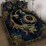 Sun and Moon Mandala Quilt Bed Set
