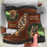German Shepherd Leather Boots