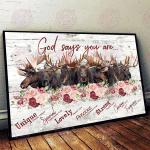 Moose God Says You Are Horizontal Poster