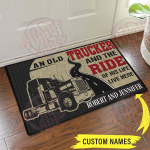 Trucker and the ride of his life live here doormat