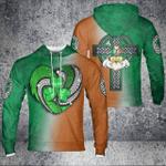Irish Heart & Cross Colorful Hoodie