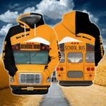 School Bus 3D All Over Printed Hoodie
