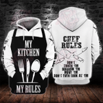 Chef Rules 3D All Over Printed Hoodie