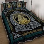 Ravens Of Odin Viking God Quilt Bed Set