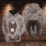Cute Baby Goat 3D All Over Printed Hoodie