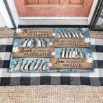 Penguin Do what you love gift for you doormat