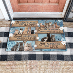 Cat Do what you love gift for you Doormat