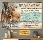 Hunting buck and doe the day I met you poster