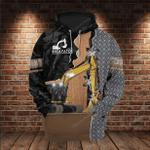 Metal Excavator Heavy Equipment 3D All Over Printed Hoodie