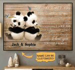 Customize Cute panda couple the day I met you poster