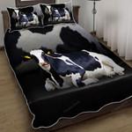 Cows Make Me Happy Quilt Bed Set