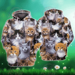 3D Cats v2 All Over Printed Hoodie