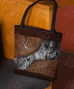 Wolf Leather Pattern Print All-Over Tote