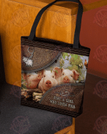 A girl who loves pigs All-Over Tote