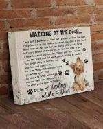 Yorkshire Terrier-waiting at the door canvas