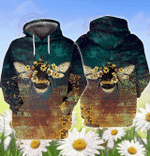 Honey Bee v2 3D All Over Printed Hoodie