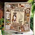 God Sent Me A Boxer Quilt Blanket
