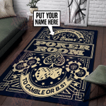 Personalized Poker Game Room Rug