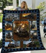 Train Like Quilt Blanket