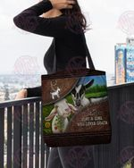 A girl who loves goats farm animal All-Over Tote