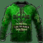 Irish St.Patrick day 3d over printed hoodie