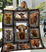 Highland Cows Quilt Blanket