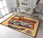 What happens in the garage stay in the garage rug