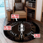 Personalized tattoo studio round rug