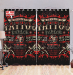 Personalized tattoo window curtains