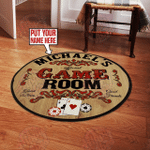 Personalized Poker Room Round Rug