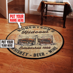 Personalized Hide Out Round Rug