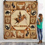 Bull Riding Fleece Blanket