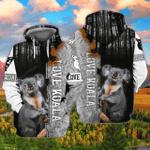 Love Koala 3D All Over Printed Hoodie
