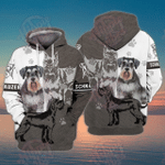 Schnauzer 3D All Over Printed Hoodie