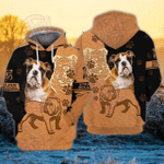 English Bulldog 3D All Over Printed Hoodie