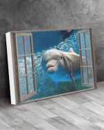 Dolphin Window View Wall Art