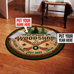 Personalized workshop round rug