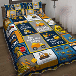 Heavy Equipment Boy, I Love You Quilt Bed Set