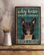French bulldog why hello poster