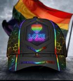 LGBT Neon Hexagon Classic Cap